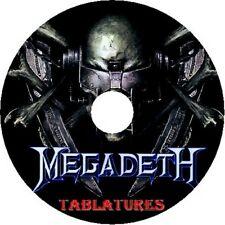 MEGADETH BASS & GUITAR TAB CD TABLATURE GREATEST HITS BEST OF ROCK METAL MUSIC