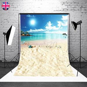 UK Sky Sea Photography Backdrops Blue Summer Studio Office Background Prop 5x7ft