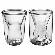 Beer Dual Walled Sexy Female Male Borosilicate Tumbler Glass Gift Set 2 Glasess