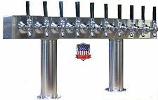 Stainless Steel Draft Beer Tower Made in USA - 10 Faucets Air Cooled -PT10SS-