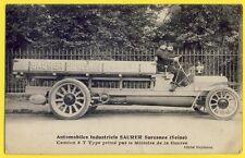 cpa 1910 Rare CAMION INDUSTRIEL SAURER Type 3 tonne SURESNES moteur Diesel Truck