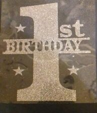 Hotfix iron on transfer birthday numbers in 8 colours with 3 stars 11.5cmx10cm