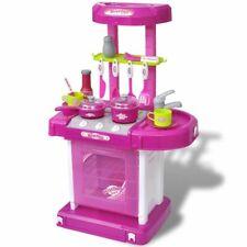 vidaXL Speelkeuken met Licht- en Geluidseffecten Roze Speelgoedkeuken Keuken