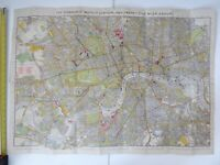 C. 1920 COMBINED MAPS OF LONDON AND 25 MILES AROUND H GRUBE UNDERGROUND INTEREST