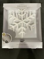 Led Lit White Multicolor  Snowflake Tree Topper 20 Lights  By Wondershop New