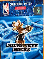 "NBA Milwaukee Bucks Hardwood Classic Logo Iron or Sew On Patch Sm 3"" by 3"""