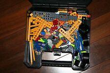 K'Nex Plastic Storage Box With Over 200 Miscellaneous Pieces