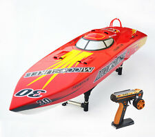 DT G26I P1 26CC Engine Gas RC Racing Speed Boat Red Fiber Glass 50Km/h ARTR