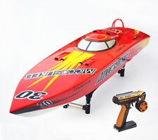 DT G26I P1 50Km/h Fiber Glass Red 26CC Gas RC Race Speed Boat ARTR W/ Servos