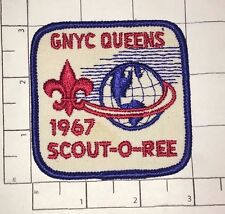 GNYC Queens 1967 Scout-O-Ree Patch - Boy Scouts New York