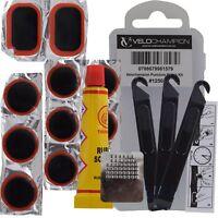 VeloChampion Bike Puncture Repair Kit 11 Inner Tube Tyre Patches & Glue Mountain
