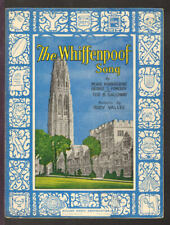 WHIFFENPOOF SONG 1936 Full Color SCARCE Yale University Vintage Sheet Music Q22