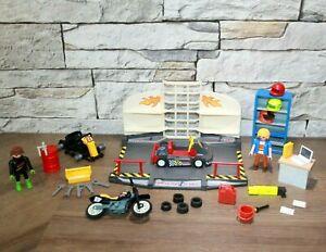 Playmobil Racing Go Cart Werkstatt mit Figuren und Zubehör