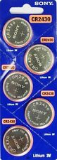 CR 2430 SONY LITHIUM BATTERIES (5 piece) 3V Watch New Authorized US Seller