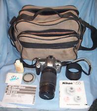 Nikon N55/F55 35mm SLR Film Camera AF Zoom Nikkor 70-300mm Lens + Case Set MORE