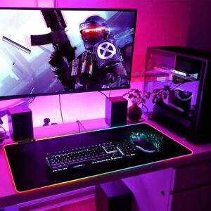 RGB Bunte LED Beleuchtung Gaming Matte Spiele XXL Mouse Pad für PC 80X30CM