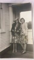 Vintage 1940's Photo of 2 Glamour Gals Pretty Girls Strappy Sandles Hat Dresses