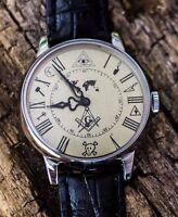 "Soviet watch, Vintage watch, Military Mechanical Mens Watch Pobeda ""Masonic"""
