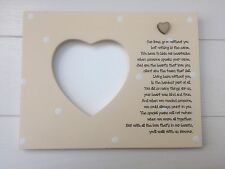 Shabby personalised Gift Chic In Memory Of A Loved One Photo Frame Plaque