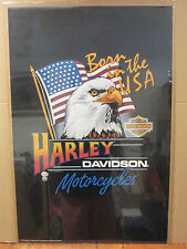 Vintage 1986 Harley-Davidson motorcycles poster Born in the USA 5583