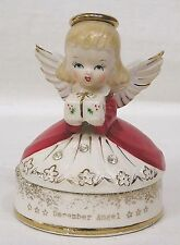 Vintage December Christmas Angel Cvd Pin Box Fine A Quality Label Rhinestones