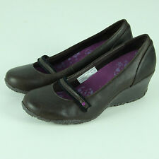 Merrell Petunia Wedges Womens 8.5 8 1/2 Mary Janes Shoes Espresso Brown Leather