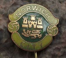 Antique Norwich City Football Club NCFC City Crest Lions Supporter Pin Badge