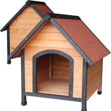 Fir Wood Dog Sleep Play House Pet Outdoor Bed Wood Shelter Home Weather Kennel