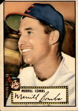 Merrill Combs 1952 Topps #18 Indians Fair 61118