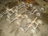 1970 Skidoo Alpine 399 R Bombardier Set of Suspension Bogie Idler Wheels & Arms