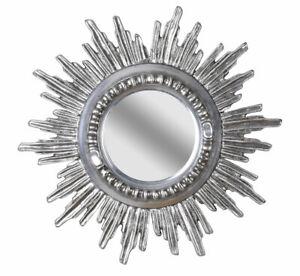 Star Rococo Silver Mirror Antique Sun Mirror Holzspiegel Brocade 60cm