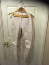 Jane Savoie Tropical Rider deer skin White Leather Full Seat Breeches 26