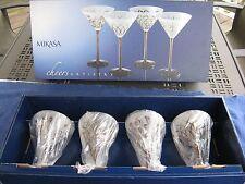 Mikasa Cheers Artistry Martini Glasses - NEW - Set of 4