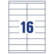1,600 Address Labels 16 Per A4 Sheet Laser Inkjet - L7162