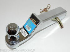 """2"""" Drop Hitch Chrome Mount Trailer Receiver Tow Truck w/ 2"""" Ball + 5/8"""" hitchpin"""