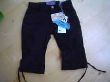 WI 11/12- Pantalones capri negro de paglie Talla 104-128