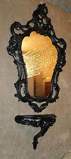 Consola de pared antiguo negro + Espejo ovalado estilo moderno x 50 76 Barroco