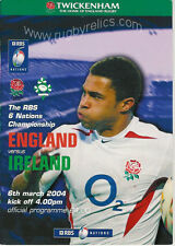 England v Ireland 2004 Rugby Programme 6 March - Triple Crown Ireland