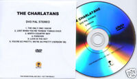 THE CHARLATANS 6 videos UK Island promo test press DVD
