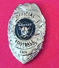 OAKLAND RAIDERS *OFFICIAL FOOTBALL FAN* LAPEL PIN