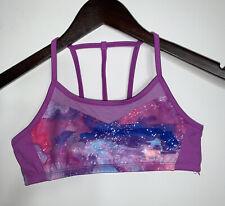 Champion Girls Youth Sports Bra Purple Galaxy Strappy Back Size Large 10-12
