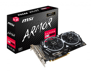 MSI Radeon RX 580 Armor 8G OC Grafikkarte 8GB GDDR5 DVI 2xHDMI 2xDP (V341-064R)