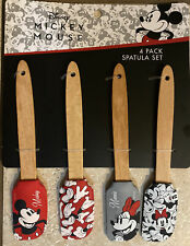Disney MICKEY MOUSE Minnie Mouse 4-Pack Spatula Set BRAND NEW in Package