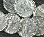 5-Pack Mercury Dime Uncirculated 90% Silver Coin AU/BU [Random Year]