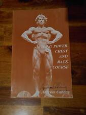"""ANDREAS CAHLING """"Chest and Back"""" bodybuilding ORIGINAL Signed booklet 1978"""