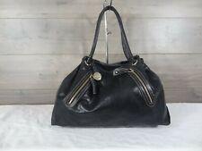 Furla Black Leather Handbag Hobo Tote Shoulder Bag Purse Satchel