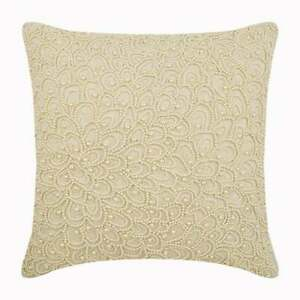 Accent Pillow Cover Ecru Ivory Handmade 22x22 inch, Linen Pearl - Pearl Haven
