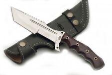 BucknBear Handmade 440C Stainless Steel Tanto Tracker G10 Handle Leather Sheath