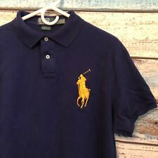 Polo Ralph Lauren Big Pony #3 Size XL Custom Fit Royal Blue & Yellow