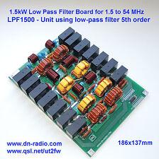 LPF 1.5 KW low pass filter 1.8-54 MHz amplifier BLF188 BLF188XR SD2933 VRF2933